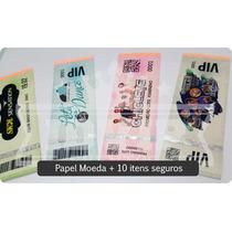 Ingresso Segurança - Papel Moeda / Convite Festa Kit 100