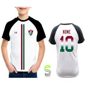 93b4c20ceb Camisa Camiseta Infantil Fluminense Personalizada  fg