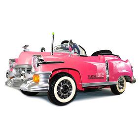 Carrito Montable Electrico Con Control Carro Clasico Rosa