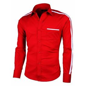Camisa Slim Fit Lcc108 Red La Chaqueteria Envio Gratis