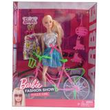Muñeca Barbie Articulada 30cm Bicicleta Y Rollers Caballito