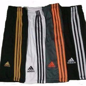Kit 5 Calções adidas Shorts C/ Bolso Treino Futebol Frete G