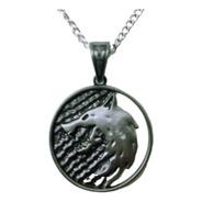 Collar The Witcher Medallon Wolf Lobo Blanco Envio Gratis