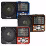 Caixa De Som Portátil Mk-1055 Rádio Mp3 Usb Am Fm 9 Bandas