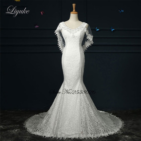 Vestido De Noiva 53293 Luxo Elegante Casamento Sereia Barato