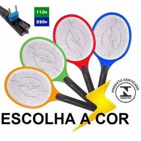 Raquete Elétrica Mosquito Recarregável Mosca Bi-volt 220v110