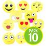 Pack 10 Cojin Emoticón Almohada 40 Cm.14649 / Fernapet