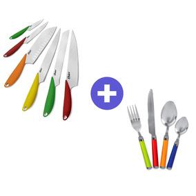 Pack Colores Oster Set De Cuchillos + Jgo. De Cubiertos