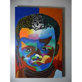 Tela Pintada À Mão A Tinta Acrílica 30cmx20cm Ref. 024
