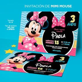 Diseño Invitación Para Cumpleaños Mimi Mouse Imprimible