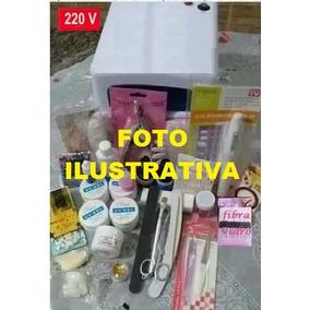 Kit De Materiais Acrigel + Lixa A Pilha + Cabine 220v