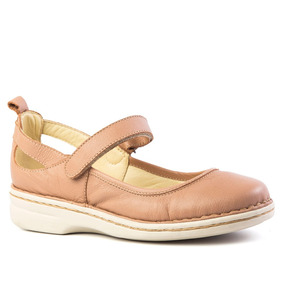 Sapato Feminino 364 Em Couro Baunilha Doctor Shoes