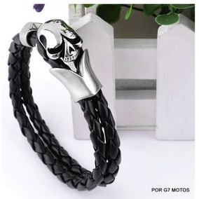 Pulseira Bracelete Couro/aço Masculina