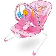 Cadeira Descanso Baby Vibratória Bebê Musical Som Rosa