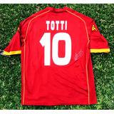 Camiseta Marca Kappa Dela Roma Totti Autografiada