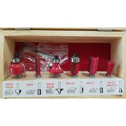 Juego Kit Set De Fresas 6 Piezas Para Tupi Router Fresadora