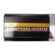 Inversor Bateria Carro 300 Watt  De 12 Volt Dc A 110 Volt Ac