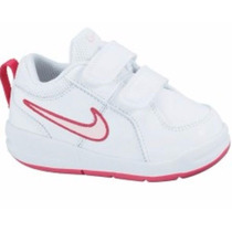 Zapatillas Nike Pico Infantil - Nena Cuero Blancas Talle 26