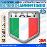 Calcomanias, Stickers, Domes C/ Relieve 3d Escudo Italia