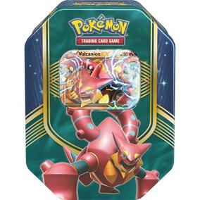 Lata Pokémon Batalha De Coração Ex Brilha Volcanion Saldão !
