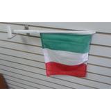 Bandera De Italia 35 X 18 Para Carro Con Asta