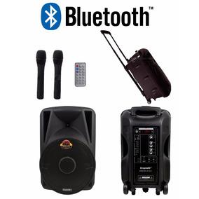 Caixa Som Ativa Ecopower 600w Bluetooth Microfone Bateria