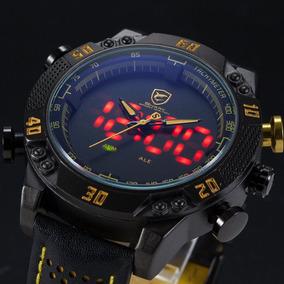 Reloj Shark Analógico Y Digital Pantalla Led Alarma Garantía