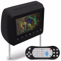 Tela Monitor Encosto Cabeca Leitor Dvd Usb Sd Jogos + Manual