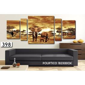 Cuadro Moderno 182x80cm Decorativo Comedor Paisaje Africano