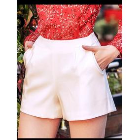 53b101826 Short Cintura Alta/feminino Social - Shorts Poliéster para Feminino ...