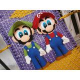 Mario Bros, Luigi 30 Cm, Peluche, Muñeco, Figura En Fieltro