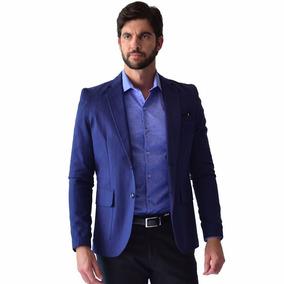 Saco Casual Hombre Corte Slim Fit Azul Marino Rack & Pack