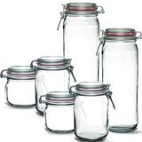 6 Potes Herméticos De Vidro - Bonito - Resistente + Brinde