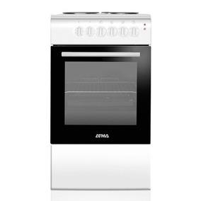 Cocina Eléctrica Atma 50 Cm Grill Termostato Blanca Novogar
