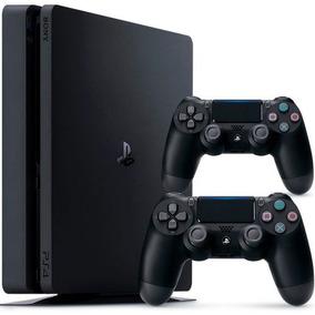 Playstation 4 Slim Sony 500gb Ps4 + 2 Controles Dualshock