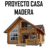 Kit Proyecto Construye Casas Cabañas Madera + 139 Planos