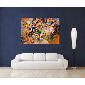 Kandinsky En Canvas Bastidor De 100x70 Cm Exelente Calidad