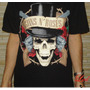 Camiseta Guns N Roses Caveira Black Tea