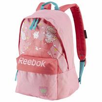 Mochila Escolar Infantil Reebok Rosa Frozen
