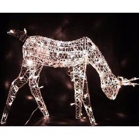 Rena Iluminada Natal Com Movimento Comendo Com 100 Lamp 110v