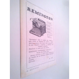 Antigua Publicidad Maquina Escribir - Remington 1930s