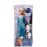 Muñeca De Frozen Elsa Y Olaf Original Disney Mattel