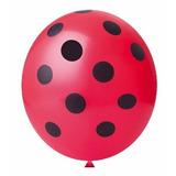 Balão 11 Happy Day Confete Joaninha Vermelho Paixão C/25