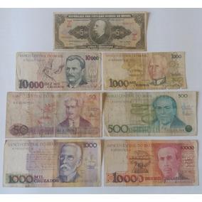 Frete Grátis - 07 Cédulas De Dinheiro - Notas Antigas Cod11