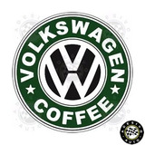 2 Adesivos Vw Volkswagen Coffee Automotivo A Pronta Entrega