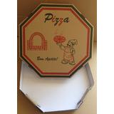 500 Caixas De Pizza Personalizada 35cm (impressão Em Offset)