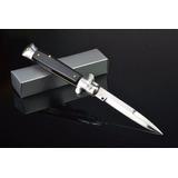 Canivete Automático Stiletto Italiano Mafia Saque Rapido