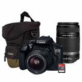 Set Canon Eos Rebel T6 + Lente 18-55mm + 55-250mm + Estuche+