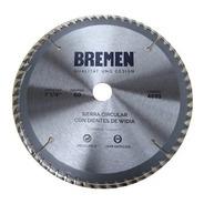 Hoja Sierra Circular 184mm 7 1/4 Bremen 60d Melamina 4693