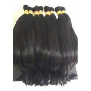 Cabelo Humano P/ Mega Hair Liso 50/55 Cm 100g. Premium